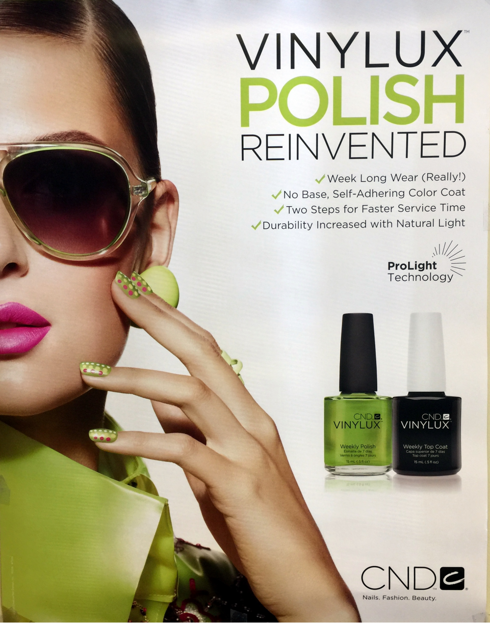 Poster Two Sided CND VINYLUX POLISH