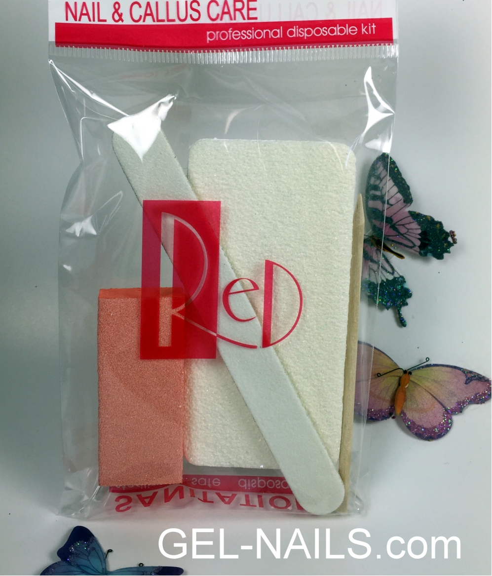 Red Nail & Callus Care Professional Disposable Kit