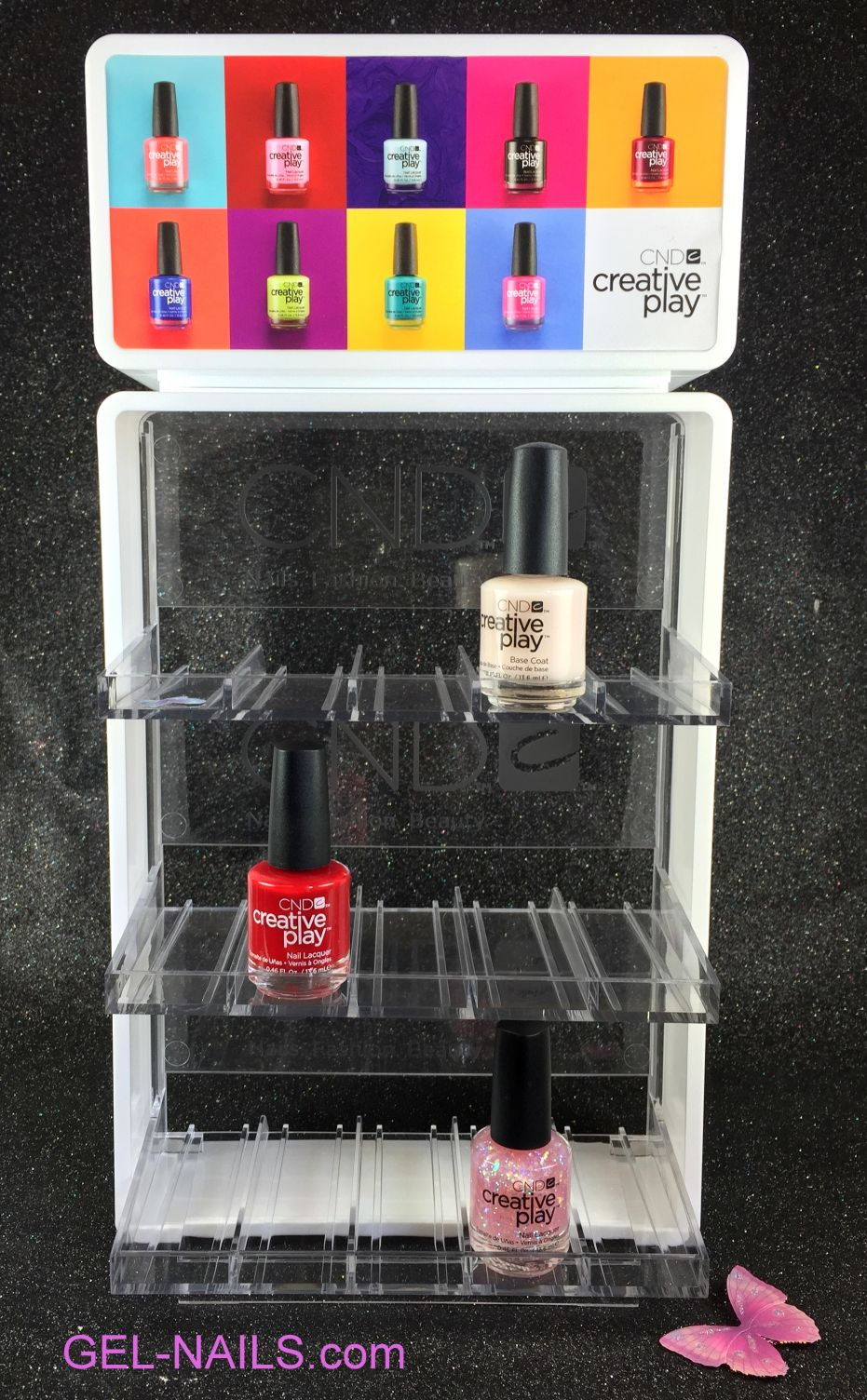 Cnd Clear Creative Play Nail Polish Display Rack