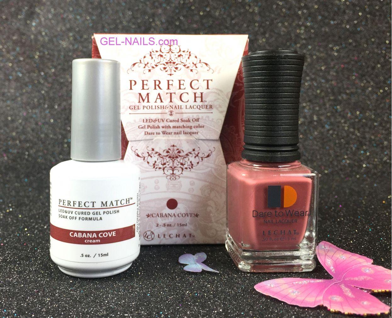 Lechat Perfect Match Cabana Cove Pms180 Gel Polish Nail Lacquer