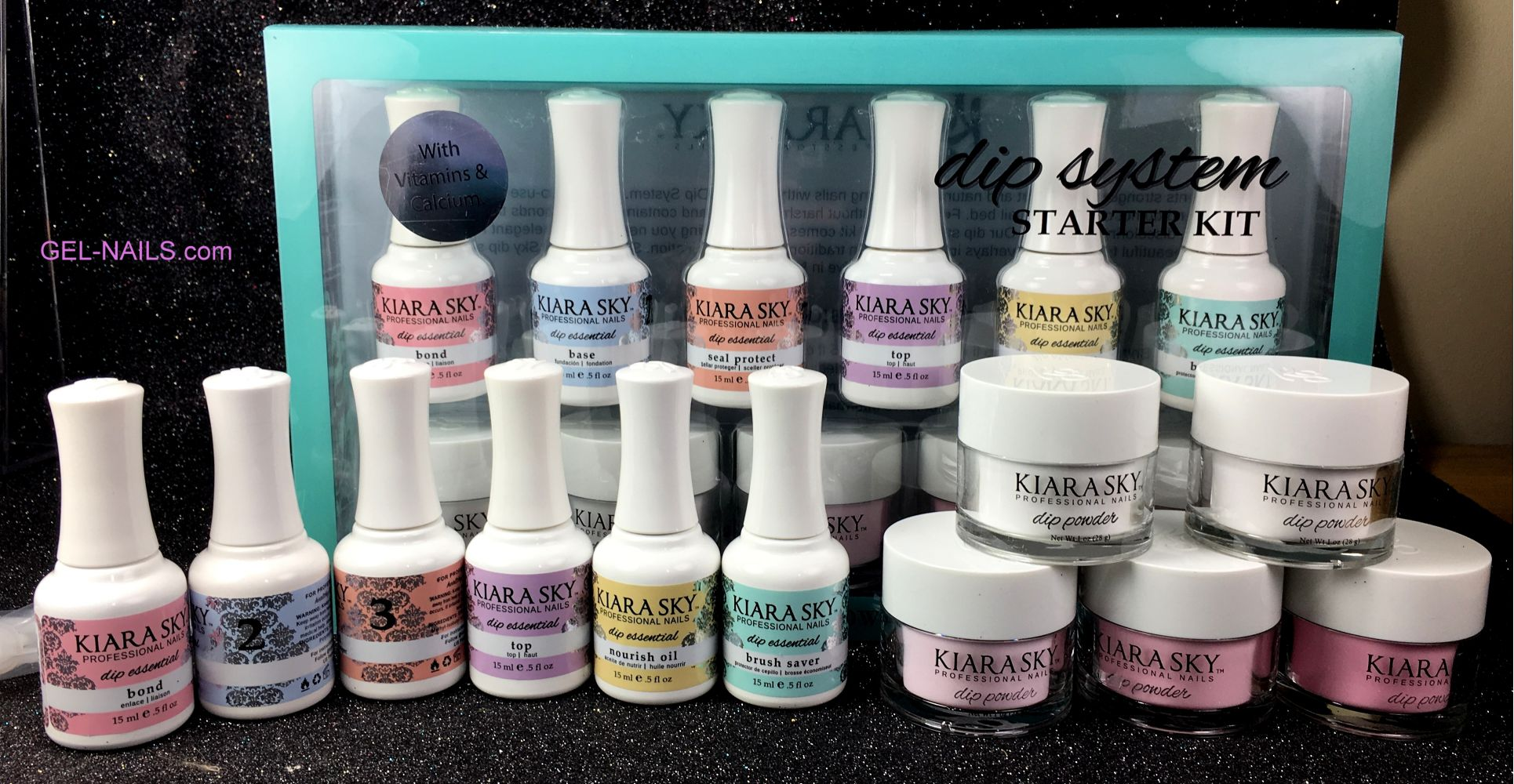 Dip System Starter Kit Kiara Sky with Vitamins & Calcium I gel-nails.com