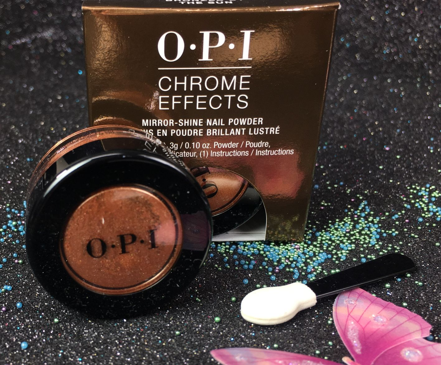 OPI Chrome Effects Bronzed By The Sun Mirror-Shine Nail Powder CP002 ...