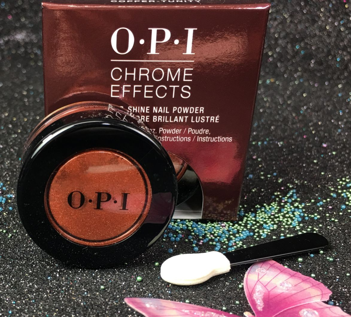 Opi Chrome Effects Great Copper Tunity Mirror Shine Nail Powder Cp003 I Gel Nails Com