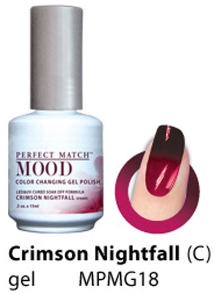 Lechat Crimson Nightfall Perfect Match Mood Color Changing Gel Polish Mpmg18