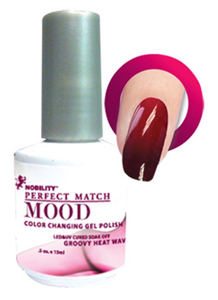 Lechat Groovy Heat Wave Frost Perfect Match Mood Color Changing Gel Polish Mpmg01