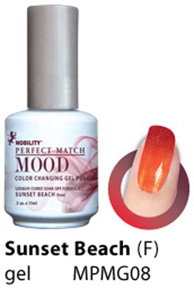 LeChat Sunset Beach Frost Perfect Match Mood Color Changing Gel ...