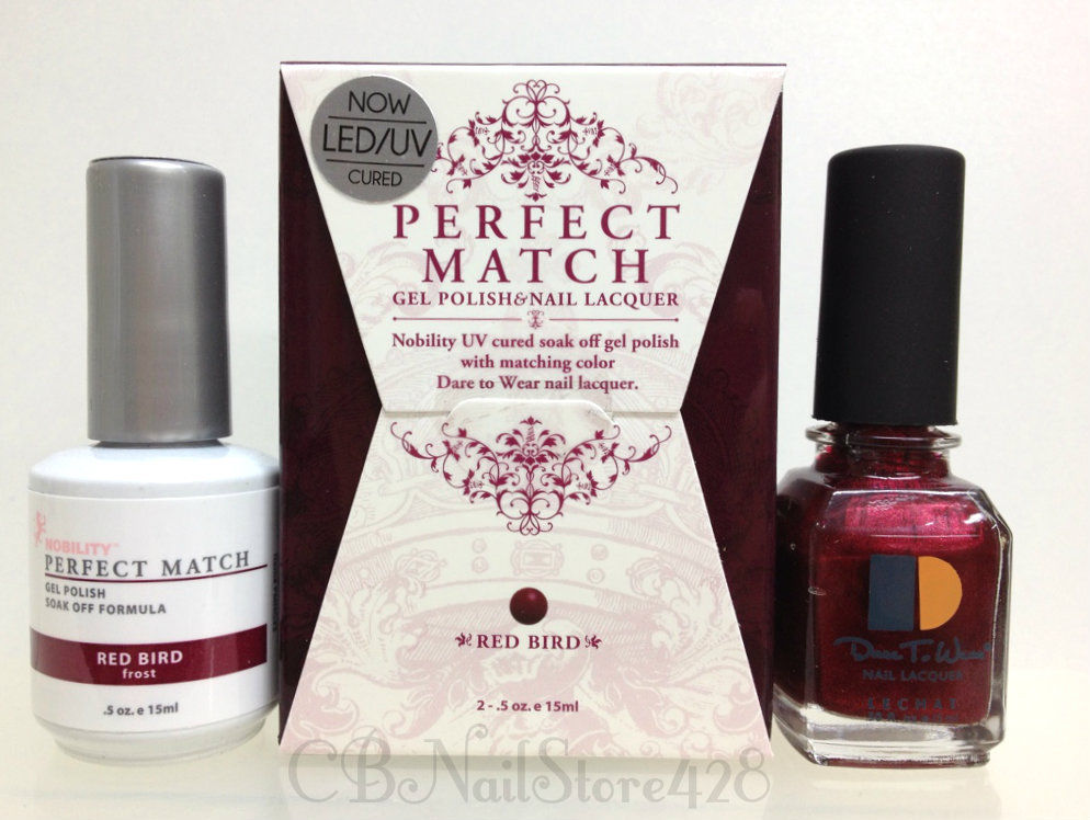 LeChat Perfect Match Gel Polish & Nail Lacquer Red Bird