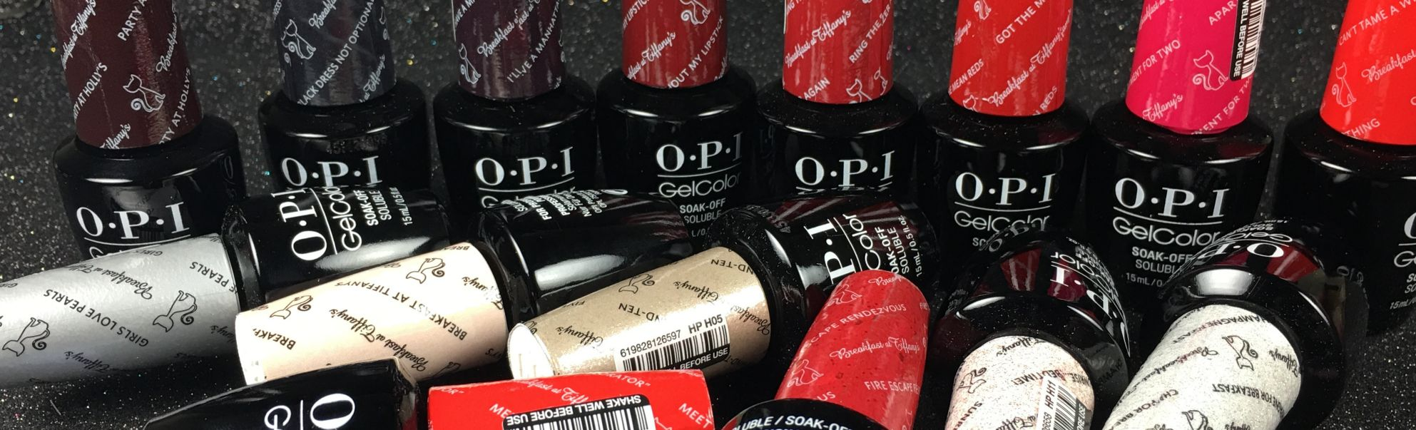 Gel Color by OPI HOLIDAY 2016 Breakfast at Tiffany's Collection