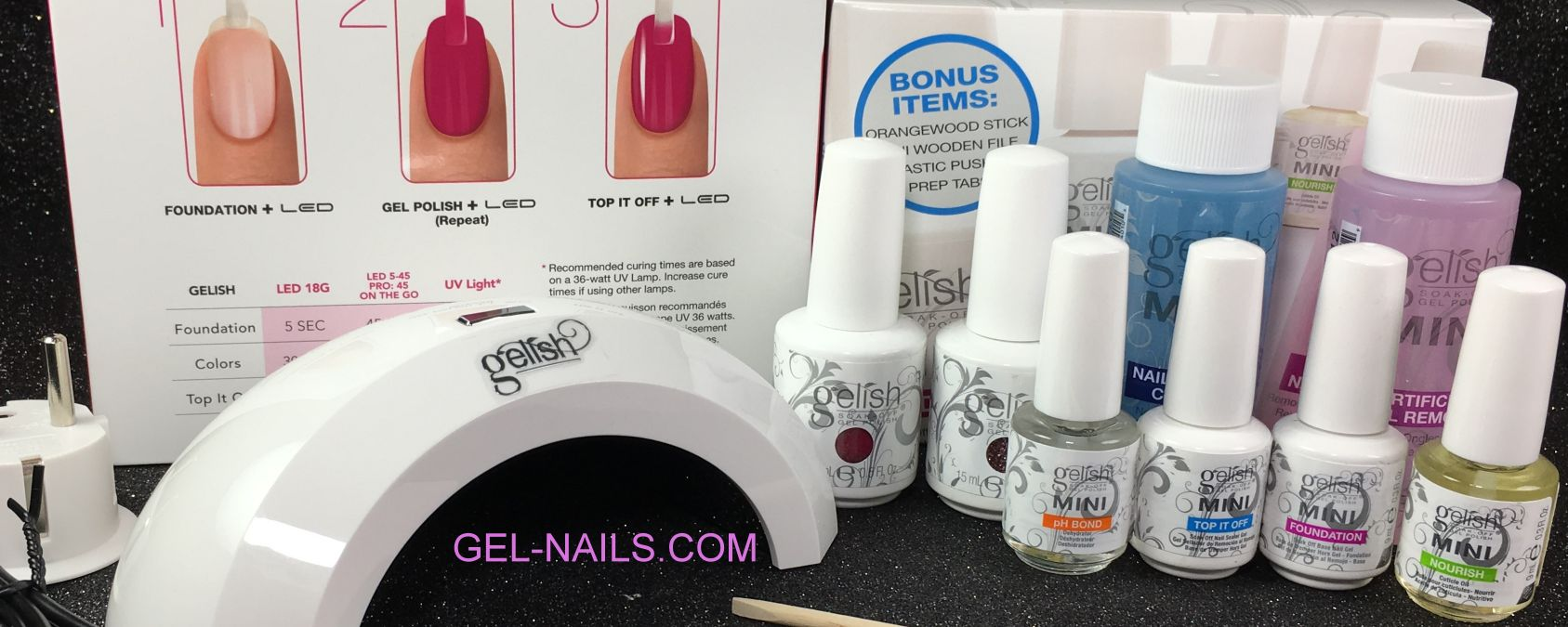 GELISH HARMONY COMPLETE STARTER BASIC KIT With Mini Pro 45 LED Light