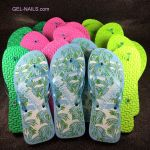 Beach or Spa Flip-Flops Mix Colors 10 pairs