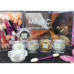 Magic Mirror Light Colors Chrome Powders 6 pcs Kit with Sponge Sticks MGP20