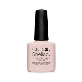 CND Shellac UV Color Coat - Gel Nail Polish - Naked Naivete