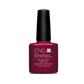CND Shellac UV Color Coat - Gel Nail Polish -Rouge Rite