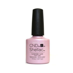 CND Shellac UV Color Coat - Gel Nail Polish  Lavender Lace 91178