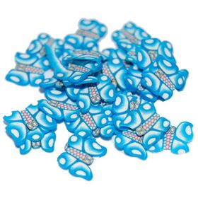 Sliced Fimo Art - Blue Butterfly (500pcs)