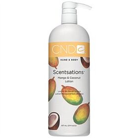 Mango & Coconut Hand & Body Lotion by CND Scentsations 917 mL 31 fl Oz