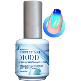 LeChat Glistening Waterfall Frost  Perfect Match Mood Color Changing Gel Polish  .5oZ/15mL