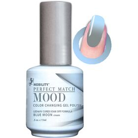 LeChat Blue Moon Cream  Perfect Match Mood Color Changing Gel Polish  .5oZ/15mL