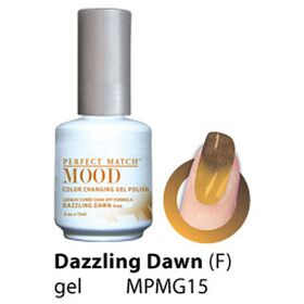 LeChat Dazzling Dawn Frost Perfect Match Mood Color Changing Gel Polish  .5oZ/15mL