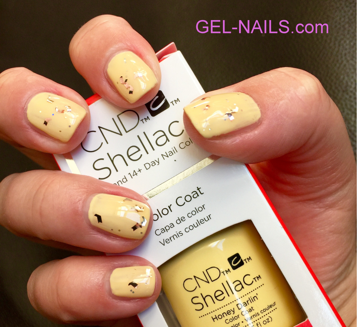 Molto CND Shellac UV Color Coat - Gel Nail Polish Honey Darlin 91175 I  CK09