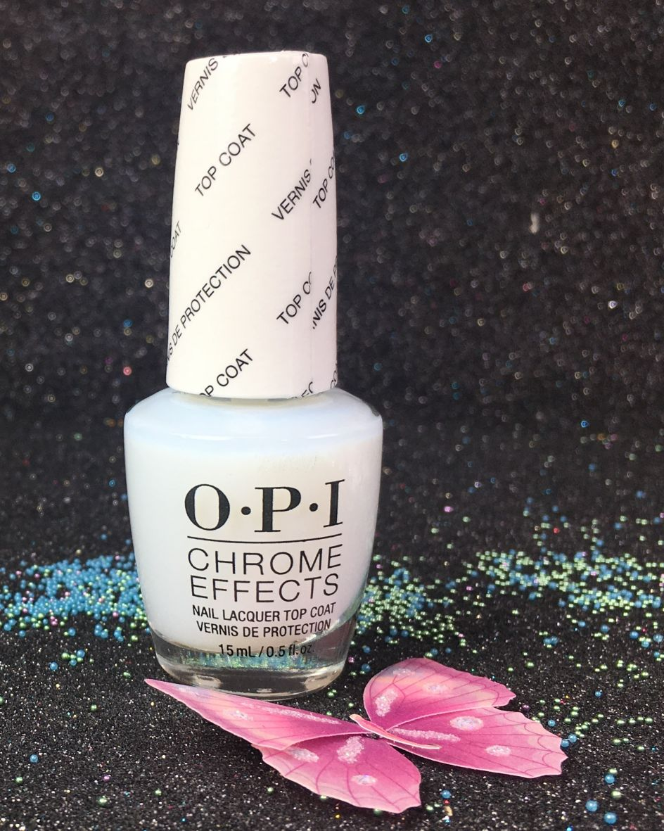Opi Chrome Effects Nail Lacquer Top Coat Cpt31