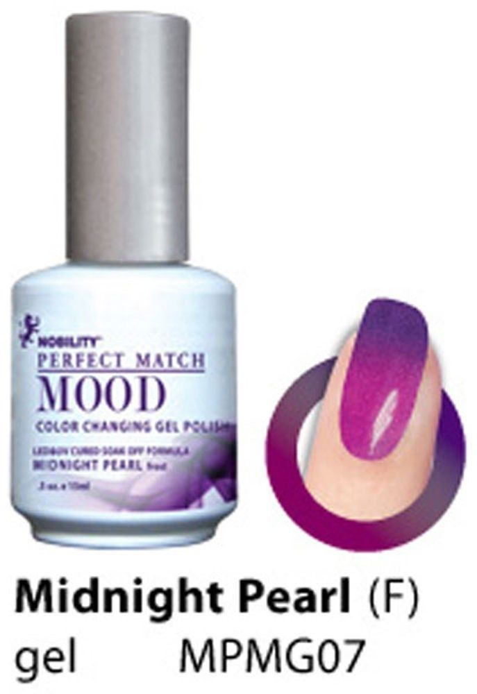 Lechat Midnight Pearl Frost Perfect Match Mood Color Changing Gel Polish 5oz 15ml