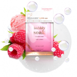 Voesh RASPBERRY SORBET bubbly spa PEDI in a Box