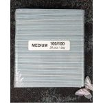 Padded Nail Files 100-100 GRIT - Medium 50 pcs​ package