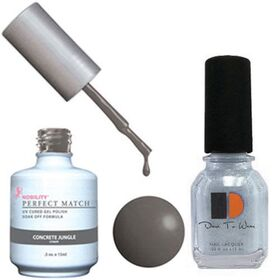 LeChat Perfect Match Gel Polish & Nail Lacquer Concrete Jungle .5oZ 15mL