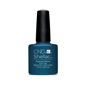 CND Shellac UV Color Coat - Gel Nail Polish - Peacock Plume