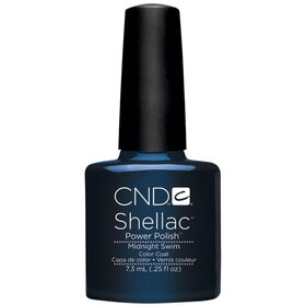CND Shellac UV Color Coat - Gel Nail Polish - Midnight Swim Color