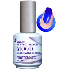 LeChat Frozen Cold Spell Frost Perfect Match Mood Color Changing Gel Polish  .5oZ/15mL