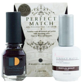 LeChat Perfect Match Gel Polish & Nail Lacquer Marilyn Merlot 2-.5oZ/15mL