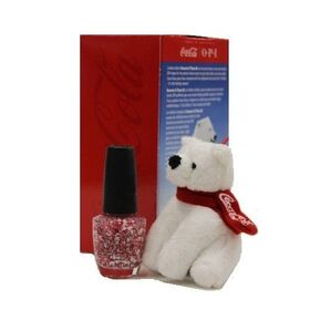 OPI Nail Lacquer  Coca Cola Holiday  Bearest of Them All With FREE Bear!